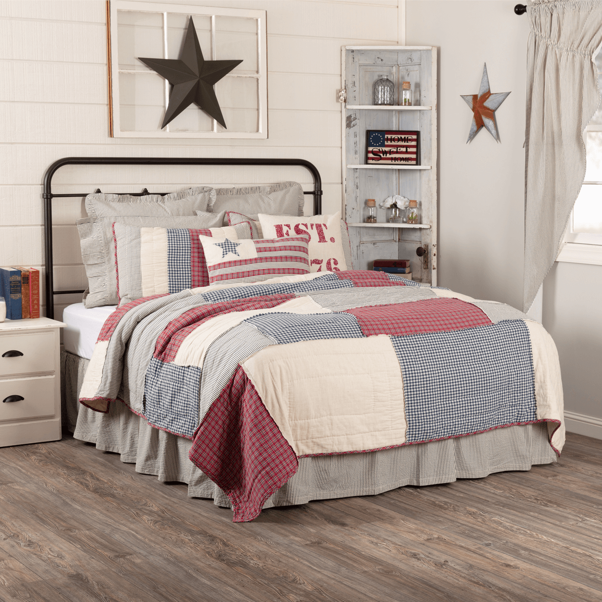 Hatteras Patch Luxury King Quilt Set Teton Timberline Trading Patriotic Bedding