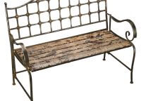 Rustic Garden Bird Bench