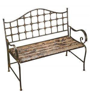 Rustic Garden Bird Bench