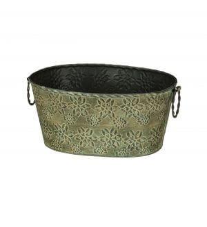 Green Star Petal Small Oval Bucket
