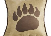 Faux Suede Bear Claw Pillow