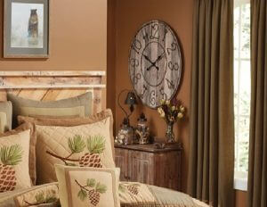 Rustic Key Numbers Wall Clock Feature