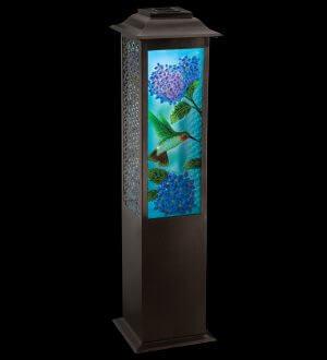Garden Hummingbird Solar Floor Lantern