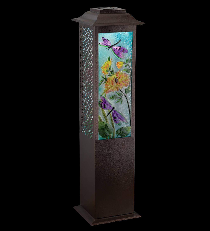 Garden Dragonfly Solar Floor Lantern Teton Timberline Trading Outdoor Living
