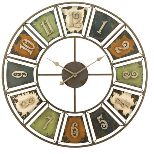 Rustic Numbers Decorative Wall Clock Teton Timberline