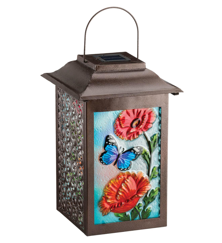 Solar Garden Butterfly Hanging Lantern