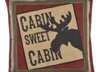 Cabin Sweet Cabin Throw Pillow