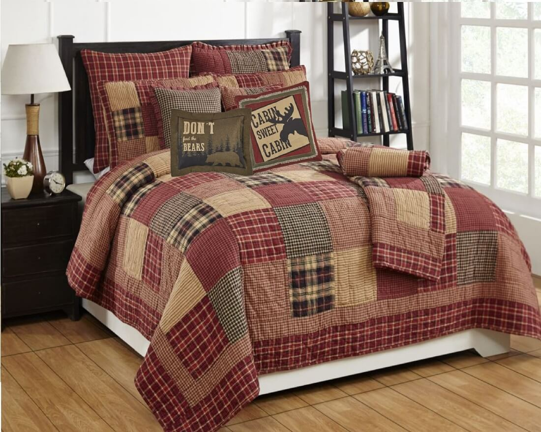 Rutherford King Quilt Set Teton Timberline Trading Farmhouse Bedding