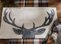 Antler Silhouette Placemat Set