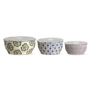 Bali Lidded Ceramic Bowl Set