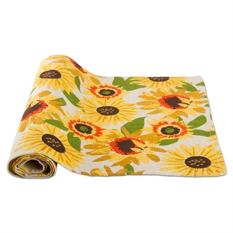 Wonderful Festive Fall Sunflower Table Runner