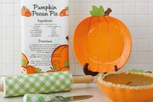 Pumpkin Shaped Pie Plate