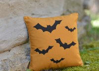 Flying Bats Halloween Pillow