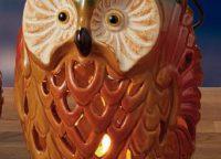 Rustic Owl Lantern