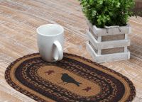 Heritage Farms Crow Jute Oval Placemat Set