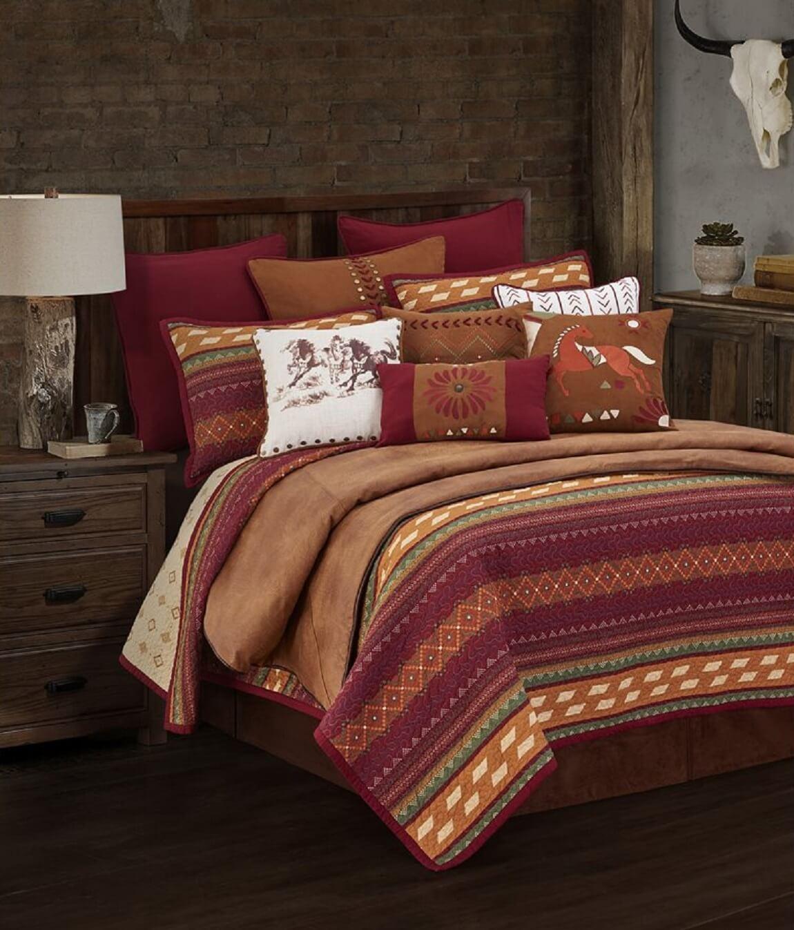 Solace Twin Quilt Set Teton Timberline Trading Southwest Design