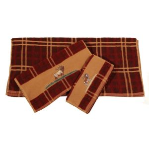 Elk Bugle Embroidered Towel Set