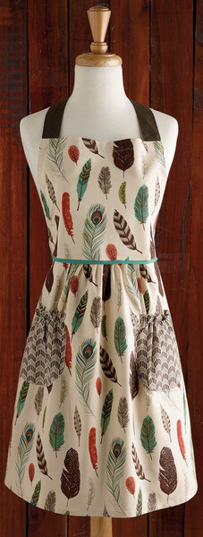 Full Feathers Printed Apron