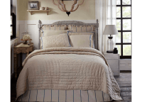 Charlotte Natural and Azure King Quilt Set