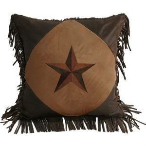Lone Star Faux Suede Throw Pillow