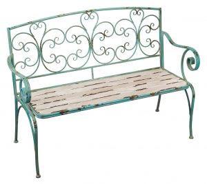 Fleur de Lis Rustic Garden Bench