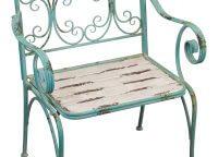 Fleur de Lis Rustic Garden Chair