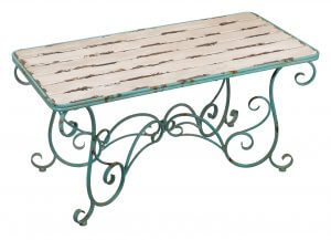 Fleur de Lis Rustic Garden Coffee Table