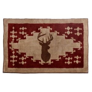 Stag Silhouette Throw Rug