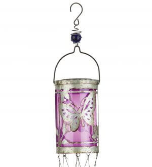 Butterfly Solar Hanging Wind Chime Lantern Closeup