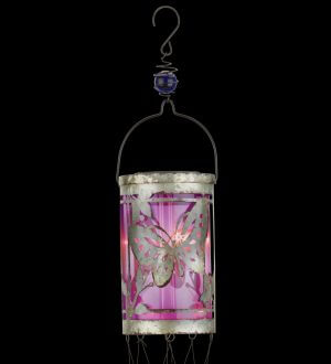 Butterfly Solar Hanging Wind Chime Lantern