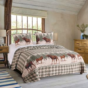 Moose Creek Twin Quilt Set
