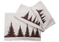 Shadow Pines Embroidered Cream Towel Set