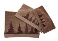Shadow Pines Embroidered Mocha Towel Set