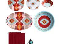 Southwest Melamine 24 Piece Dining Set