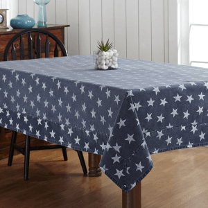 Multi-Star Navy Tablecloth