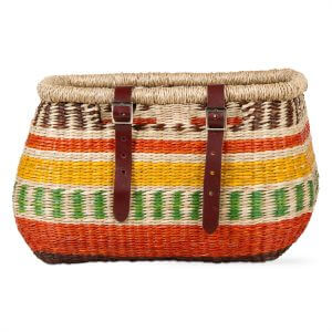 Handwoven Seagrass Bike Basket