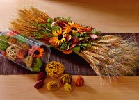 Dried Wildlflowers Rustic Centerpiece