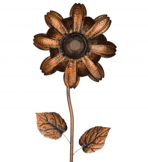 11259 Wireless Speaker Copper Daisy Flower Stake