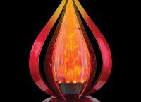 Red Blaze Solar Table Lantern