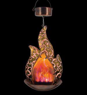 Amber Blaze Solar Hanging Lantern