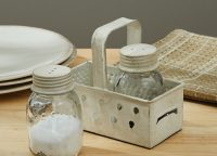 Mason Jar Salt and Pepper Set with Grater Caddy