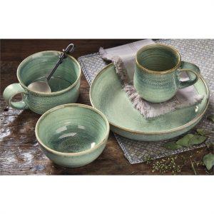 Celadon Reactive Glaze Stoneware Set