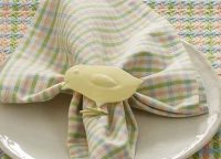 Sweet Yellow Chick Napkin Ring