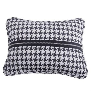 Houndstooth Zippered Accent Pillow