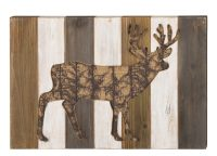 Deer Wood Wall Decor