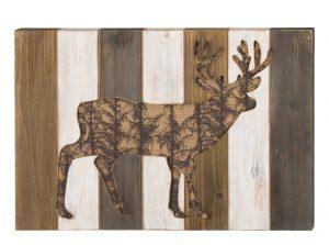 Deer Wood Wall Decor