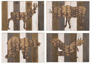 Wood Wildlife Wall Decor Collection