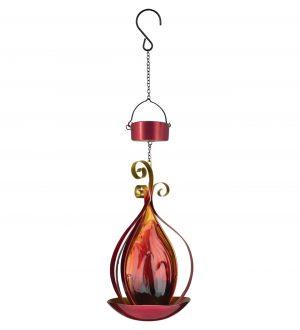Red Blaze Solar Hanging Lantern