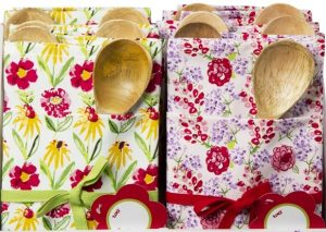 Summer Meadow Dishtowel and Wooden Spoon Gift Set
