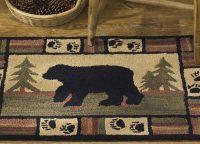 Adirondack Bear Plush Hooked Rug